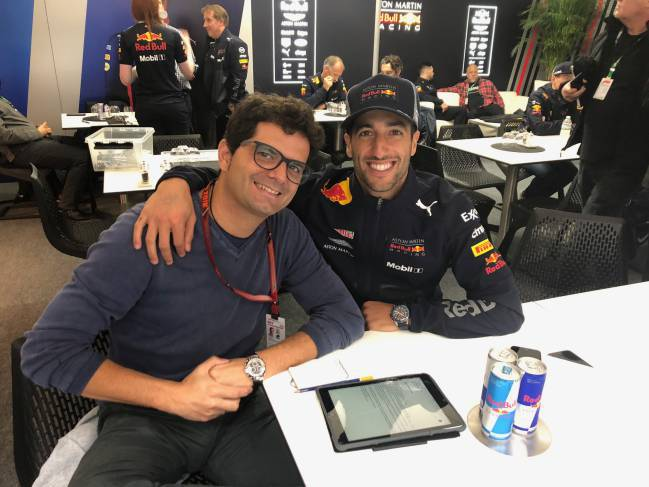 Ricciardo denies Verstappen in Red Bull one-two