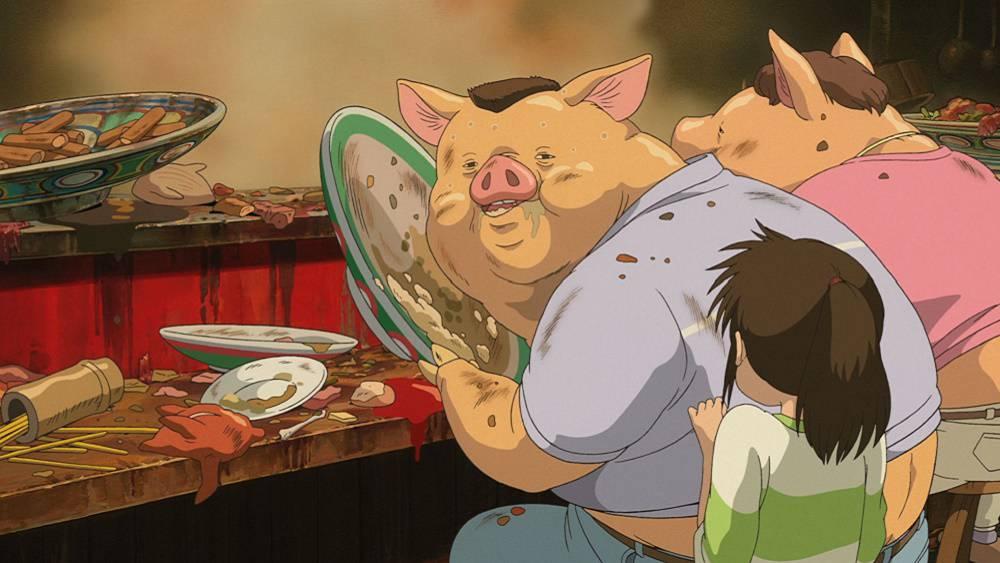 Resultado de imagen de el viaje de chihiro cerdos