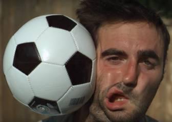 Así es tu cara en slow motion cuando le dan un balonazo