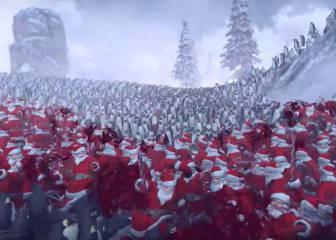 La batalla de Navidad definitiva: 11.000 pingüinos contra 4.000 Santa Claus