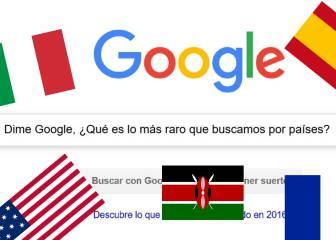 Las búsquedas de Google más locas por países