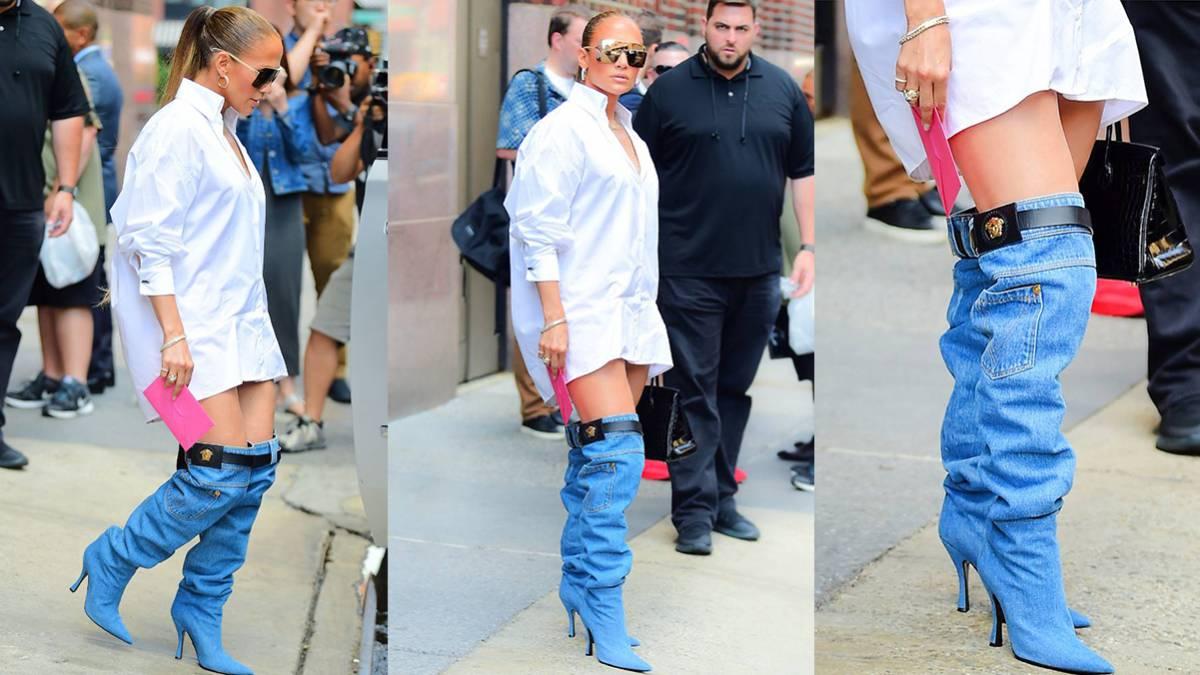 Jennifer Lopez llegó a premiación vistiendo solo una camisa