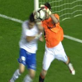 الحكم إحتسب هدفاً غير شرعي لـ تينيريفي . Ayoze_marco_gol_debio_ser