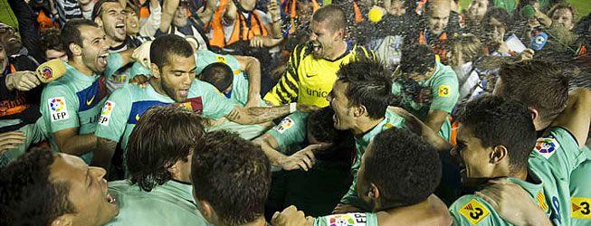 El Barça fue campeón en el primer 'match ball'