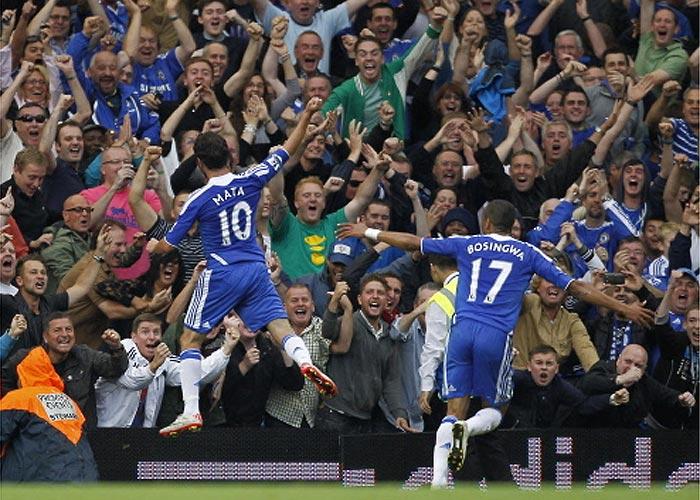 Mata marca un gol en su debut con el Chelsea