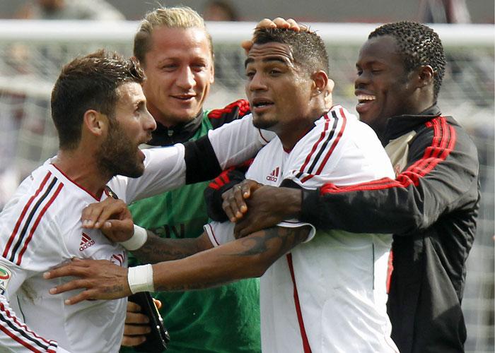 El Milán remonta un 3-0 con un hat-trick de Boateng