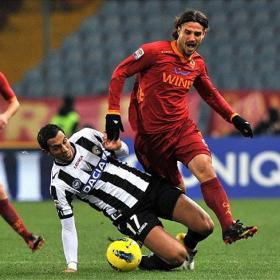 El Roma también sucumbió en el Friuli y Udinese es líder
