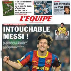 Messi, campeón de campeones para 'L'Équipe'
