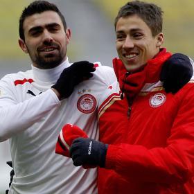 El Olympiacos gana al Rubin y al frío a doce bajo cero