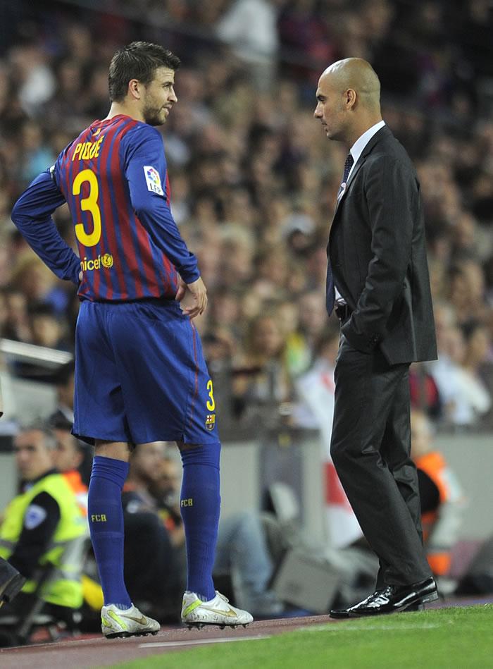 Guardiola le da un segundo aviso a Piqué