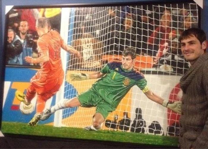 La parada de Casillas a Robben, una obra de arte