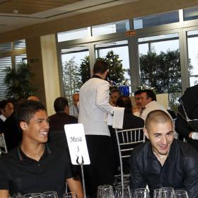 Comida para hacer piña de la plantilla del Real Madrid