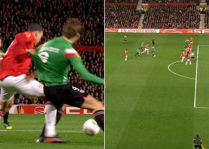 Florian Meyer se tragó un penalti y un fuera de juego