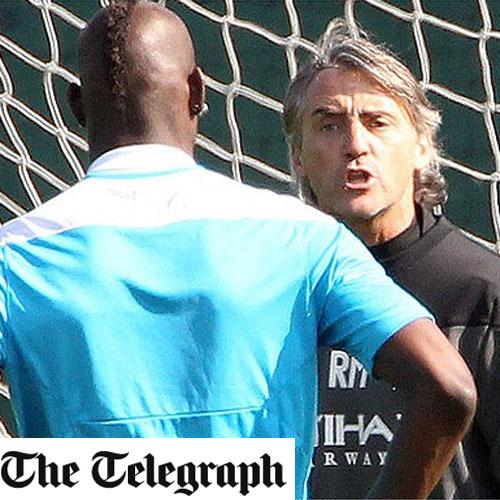 Mancini echa de la sesión a Balotelli por llegar tarde