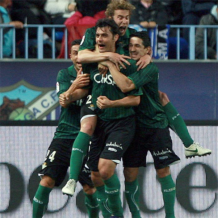 El Betis puso los goles, el Málaga el juego