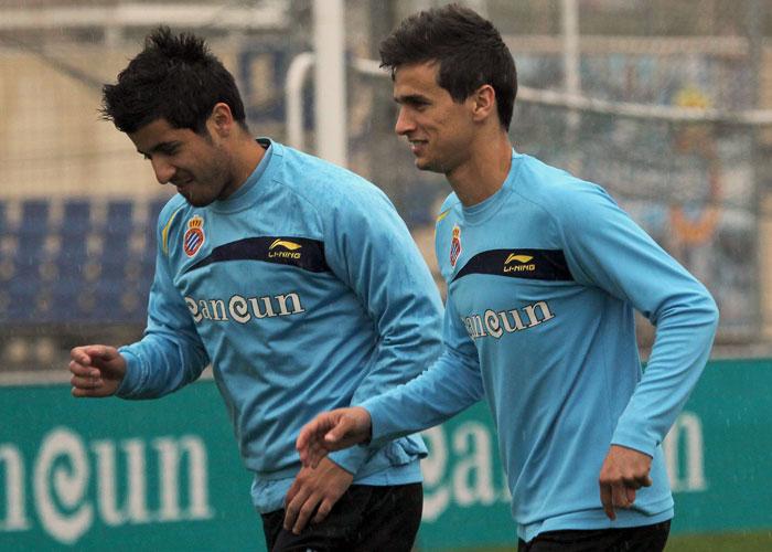 Albín y Weiss, bajas españolistas frente al Atlético
