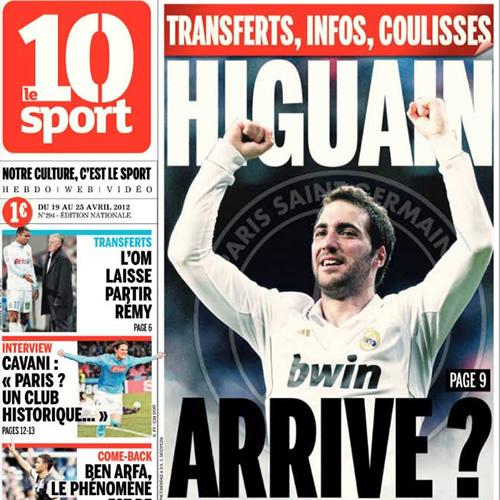 Le 10 Sport: Higuaín comió con el dueño del PSG