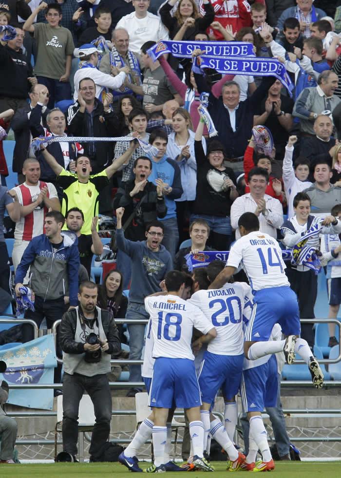 Edu Oriol mantiene un día más con vida al Zaragoza
