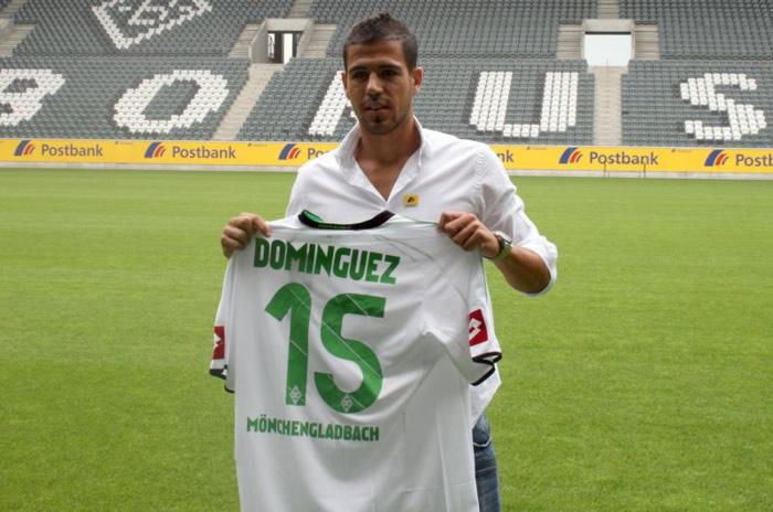 Domínguez fue presentado como refuerzo del 'Gladbach'