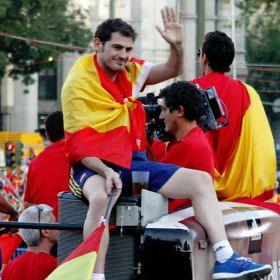 """Casillas: """"Va por vosotros, España, gracias por estar aquí"""""""