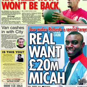 Según 'Daily Star', Mourinho va a por Micah Richards, del City