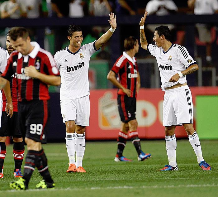 Cristiano y Di María bailan al Milán