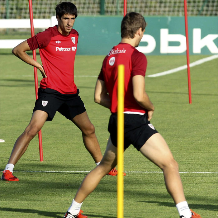 Llorente y Javi Martínez se entrenan; Muniain, recuperado