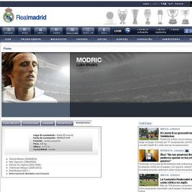 Twitter descubre un perfil de Modric en la web del Madrid