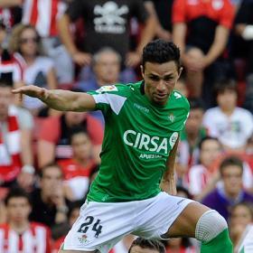 Rubén Castro, dos semanas de baja por un esguince de tobillo