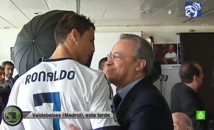 Frío reencuentro entre Florentino y Cristiano