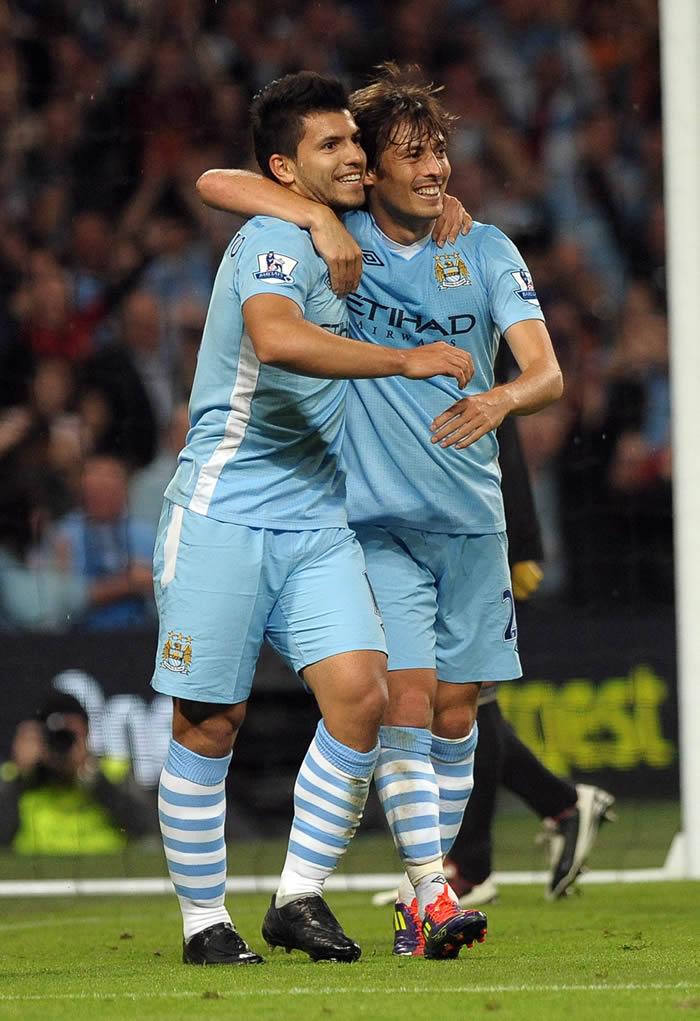 El City llega hoy a Madrid con el Kun Agüero y Silva