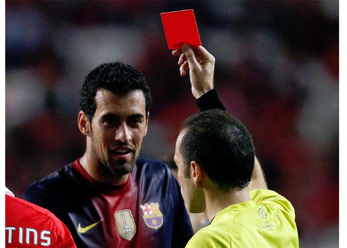 La UEFA sanciona a Sergio Busquets con dos partidos