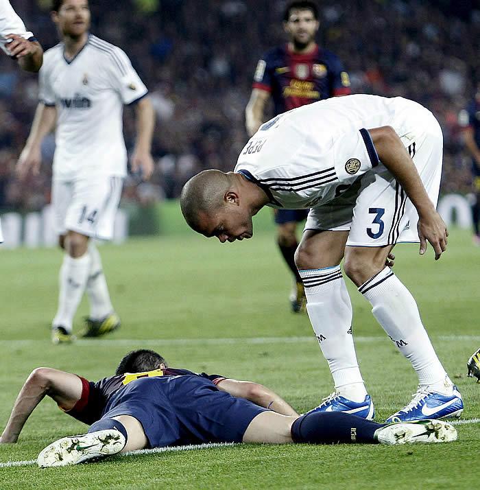 Pepe sufre más faltas por partido (1,3)de las que hace (0,9)