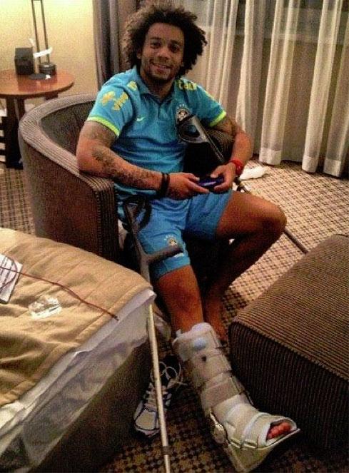Marcelo se rompe con Brasil y será baja durante tres meses