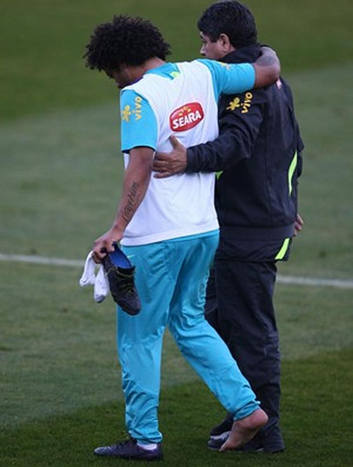 Marcelo, tres meses de baja, ya está en Madrid