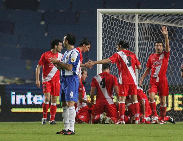 El Rayo sólo ganó en casa del Espanyol en la Copa