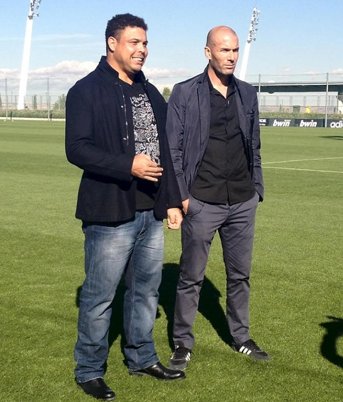Ronaldo y Zidane: reencuentro en Valdebebas contra la Pobreza