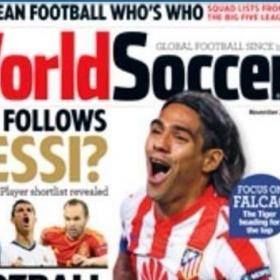 Falcao y el Atltico, portada de la revista World Soccer