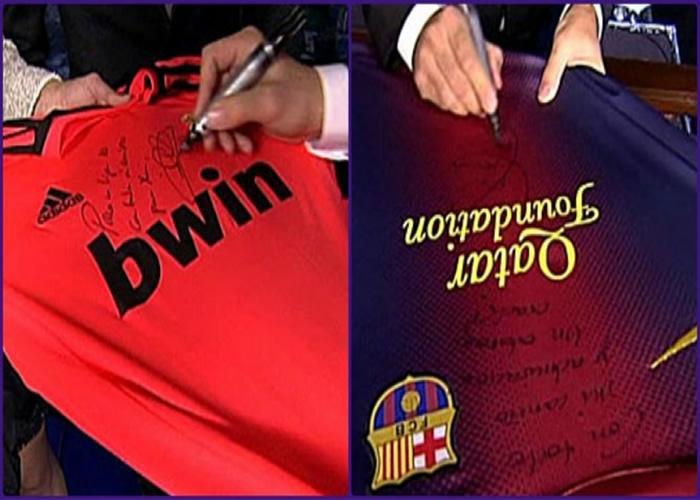 Iker y Xavi se regalaron las camisetas de Madrid y Barça con dedicatoria