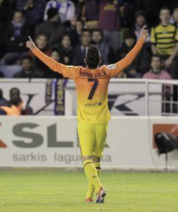 """Villa: """"Hoy me encontraba bien, como para jugar todo el partido"""""""