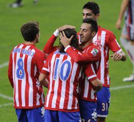 Sangoy y Cuéllar dan la victoria al Sporting contra el Osasuna