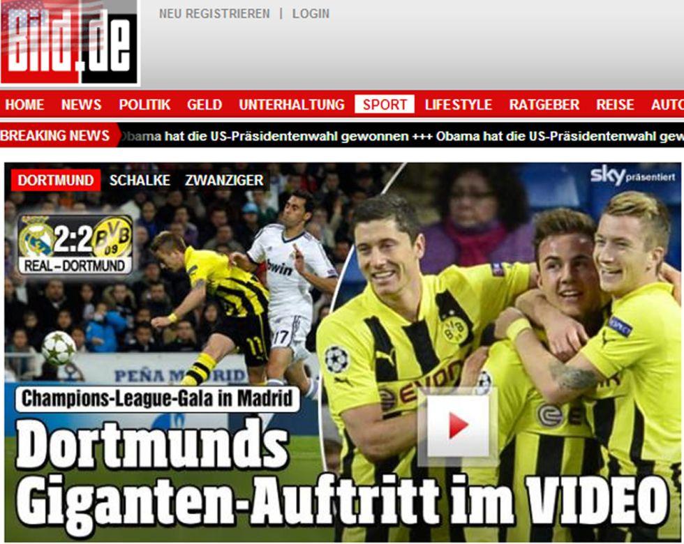 """""""Al Dortmund le secuestran un punto"""", dice la prensa extranjera"""