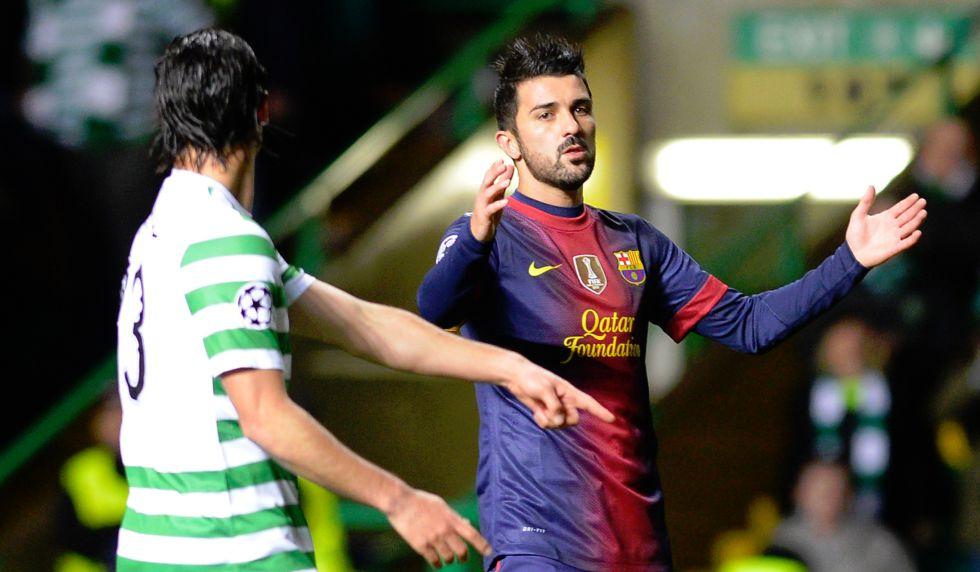Leo Messi vuelve a recriminar a Villa que no le pasara un balón