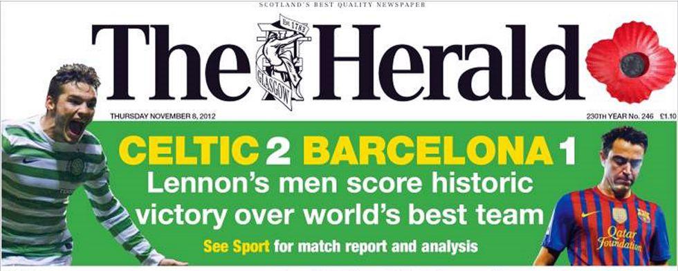 """Para la prensa escocesa se trata de """"una victoria histórica"""""""