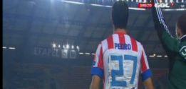 Pedro jugó con un dorsal hecho con esparadrapo