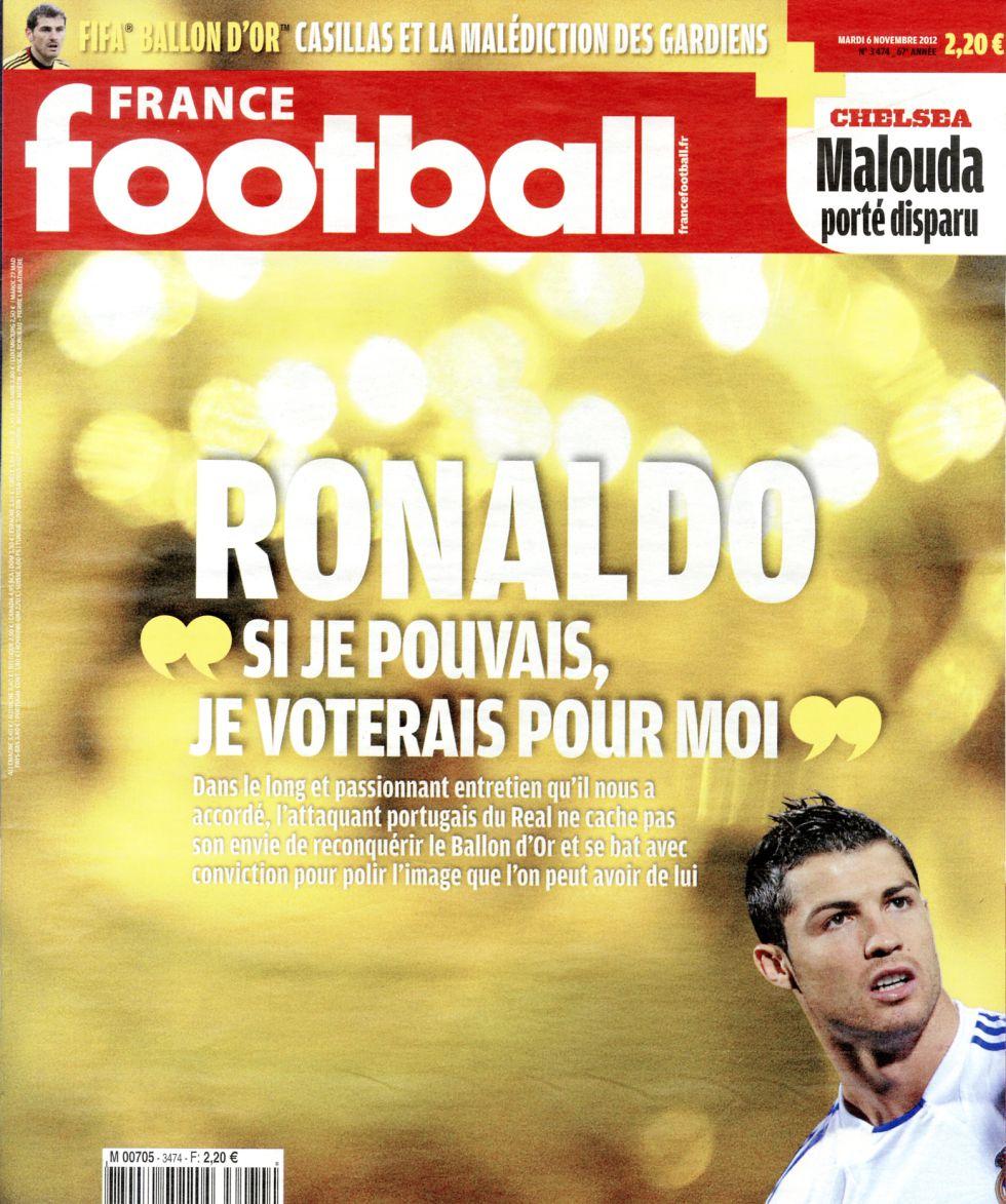 "Cristiano Ronaldo: ""Quizá esté detrás de Messi por mi imagen"""