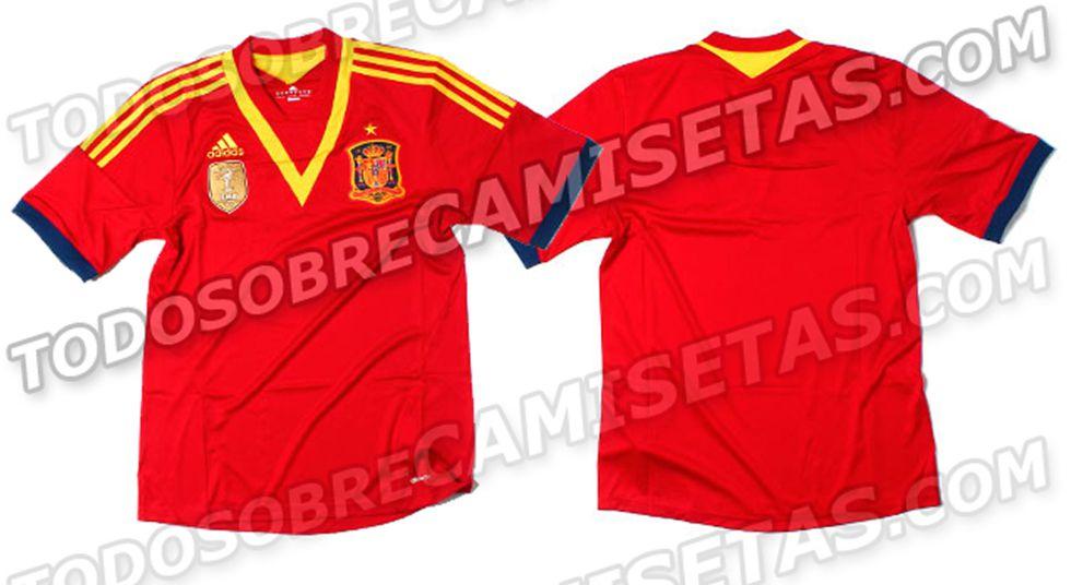 Se filtra el posible diseño de la nueva camiseta de España