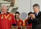 La Selección es recibida por Martinelli y visita el Canal