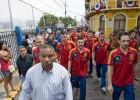 La Roja hace patria en su visita al Canal de Panamá