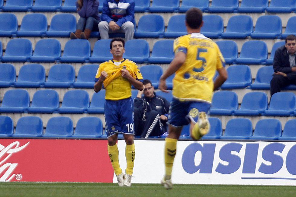 Javi Guerrero, amonestado y multado por dedicar un gol a Tote